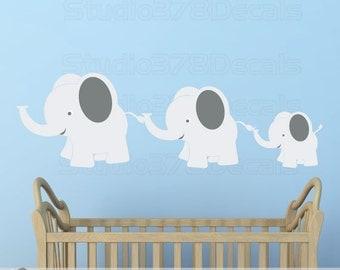 Elephant Wall Decal | Elephant Family Decal | Elephants Decal | Safari Wall Decor | Boy Nursery Decor | Safari Animal Nursery | Kid Room