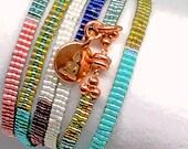 Bracelet, Wrap Bracelet, Japanese Seed Bead Wrap,  Delica Seed Bead Wristwear
