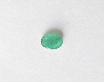 Natural Green Emerald, Unheated, Oval Cut, 0.71 carat