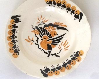 Antique dinette,ceramic,dinner ware,children dinner set with birds.
