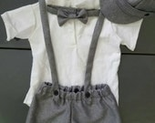 Ring bearer outfit, boy photo shoot, baptism outfit, boy christening outfit, Easter outfit, boy suit, suit with suspenders,birthday suit