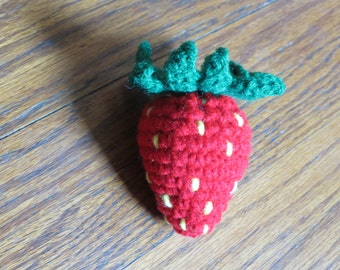 Play Food, Strawberry, Crochet Play Food, Fruit, Crochet Strawberry, Crochet Fruit, Strawberry Toy, Home Decor