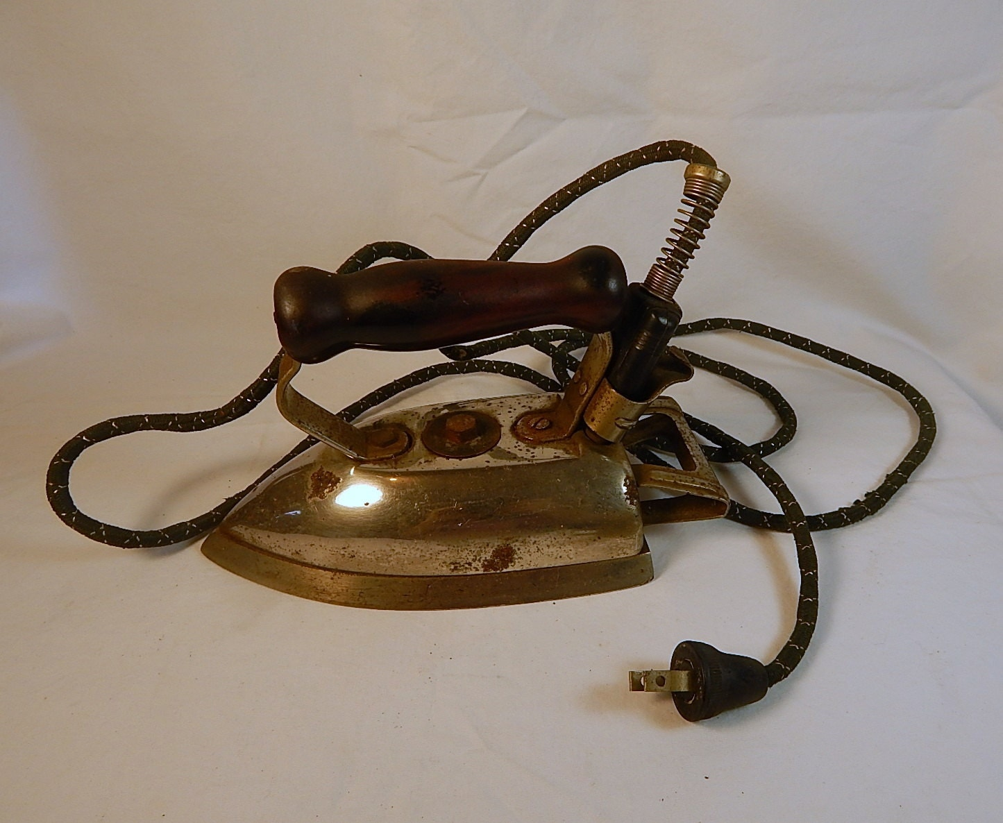 vintage electric clothes iron westinghouse with cord prop