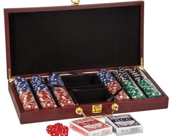 Poker Game Set- 300 Chip Poker Game Set (CLOSEOUT ITEM)