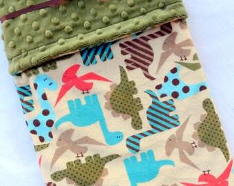 Dino Baby Blanket - Dinosaur Baby Blanket - Dino Blanket - Baby Blanket - Minky Baby Blanket - Baby Boy - Dinosaur Crib Bedding - Boy