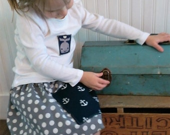 Boho Children's Clothing | Washed Cotton Skirt and Shirt | Grey Polka Dots | Photo Shoot | Ellie Ann and Lucy