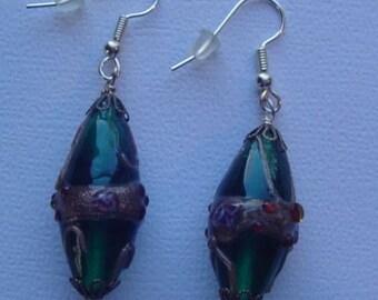 Glass Pierced Earrings