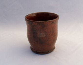 Red/ Black Stoneware Ceramic Cup