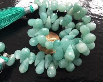 Amazonite Drops Faceted (Natural)