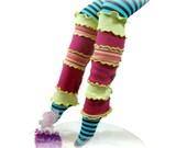 Neon Leg Warmers, Upcycled Leg Warmers, Lime Green & Fuchsia, Upcycled Clothing, OOAK Leg Warmers, Handmade Leggings, Rave Leg Warmers