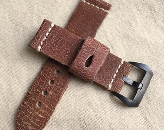 Genuine Distress Leather Watch Strap for your Panerai