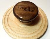 Wet felting tool, Palm Washboard Maple base & Black Walnut handle. - Handmade in America