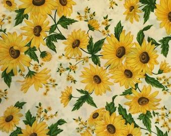 Sunflower Cotton Fabric - Cranston Print Works Fabric
