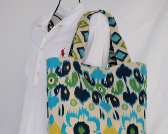 Fun Summer Ikat Tote