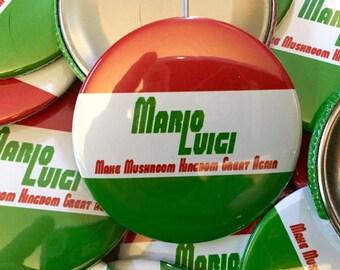Mario Luigi Campaign Button
