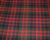Tartan Fabric. MacDonald Clan Modern. Poly viscose. Machine Washable. Price per half metre.