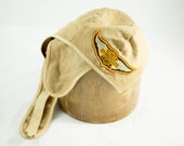 Vintage Motorcycle / 1940's / Harley Davidson Cloth Racing Cap / Brown Canvas With Original H-D Patch