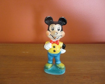 Mickey Mouse Ceramic Figure, Wales, 1960 Antique