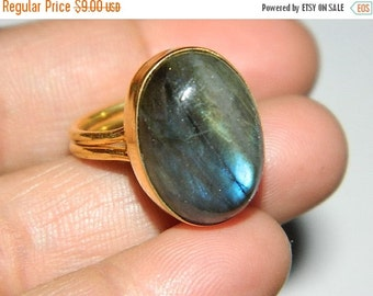 20 off. 925 Sterling Silver Labradorite ring-Natural Blue Labrodarite Gold Plated ring-Top quality stone-Designer Jewelery-valentine Gift