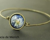 Galaxy Space Bracelet - Universe Jewelry - Solar System Planet, Nebula, moon or earth Bracelet - Space Jewelry, Bridesmaid Gift