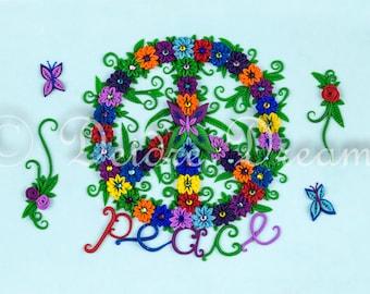 Peace Sign Decor, Peace Sign Art Print, Inspirational Art Decor, Hippie Decor, Peace Sign Wall Art, Peace Art, Fine Art Print, Hippie Art