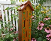 Butterfly House, Butterfly shelter, Garden Accent, natural oil finished cedar, made in USA ,PVC ground anchor, decorative garden structure