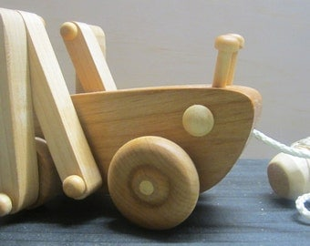 Wood Pull Along Grasshopper Toy for children Waldorf inspired Baby and Toddler Gift for a Boy or Girl Keepsake Toys