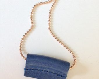 Necklace TUBE 'Cobalt' copper