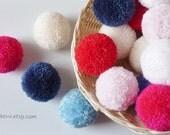Handmade yarn pom poms (10) - Wedding decorations - Gift box decor - Party garlands - Plektra UK - Made To Order
