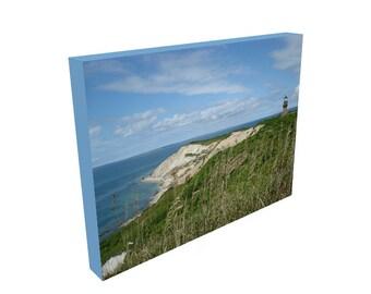 Aquinnah Lighthouse, Martha's Vineyard Art, 12x16 Canvas Print, Medium Canvas, Wall Art, Prints, Beach Wall Decor, Gift for wife, husband