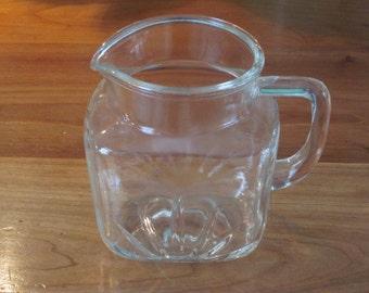 Vintage Star Pattern Crystal Depression Glass Pitcher