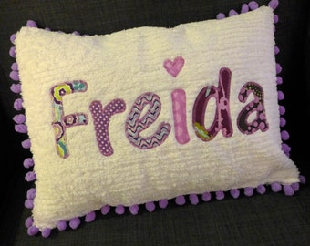 Personalized Name Pillow Cover 12 x 16, Chenille