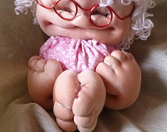 Cheeky old lady doll