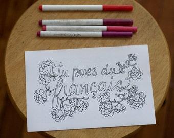 Cinquième édition : Insultes et jurons québécois à colorier pour profs en correction