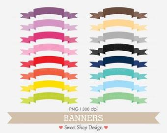 Banner Clip Art, Ribbon Clip Art, Border Clip Art, Digital Clip Art, N02FPN, Instant Download