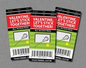 Lacrosse Valentine Cards sports Printable Customized Classroom PDF