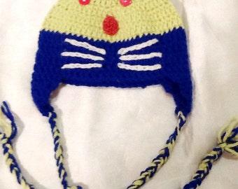Babies mouse  hat , crochet hat ,baby animal hat ,handmade baby hat-kids boho hat