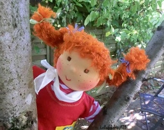 SALE waldorf doll Pippi Longstocking 16inch waldorf doll ecofriendly doll ready to go
