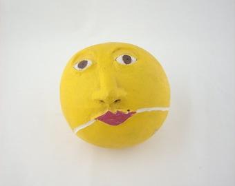 Vintage Tennis Ball Pottery Head