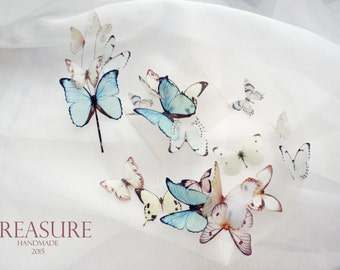 Bridal jewelry set, butterfly jewelry set, butterfly necklace, butterfly bracelet, butterfly hair pin, summer bridal jewelry, wedding jewelr