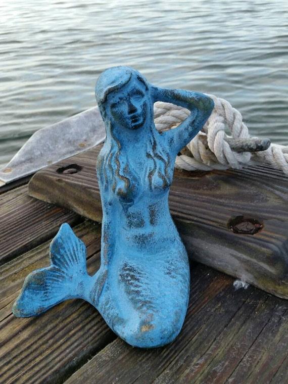 Statue der Meerjungfrau Meerjungfrau von RoadsideTrunkShow auf Etsy