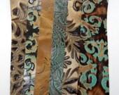 Longest cuff bracelet blanks - mix of botanical prints(set A) - set of six (6 pcs)