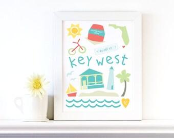 key west print