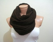 SALE CLEARANCE brown circle Scarf, Neckwarmer, cowl, Gift for men woman, Christmas gifts, Fashion super soft scarfmens cowl circle scarf
