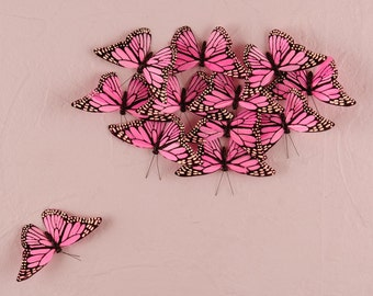 Decorative Butterflies for Weddings, Bridal Showers and Party Craft Projects Centerpieces and Decorations, 24 Butterflies