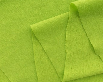 ℳ Solid Lime green Spandex Crepe feel 58 inch FC12679 Fabric by the yard, 1 yard