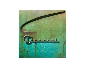 Turquoise Rust Car, Art Deco, Old Car Photo, Aqua, Sea Green, Scrap Yard Art, Auto Junkyard, Abstract Photo