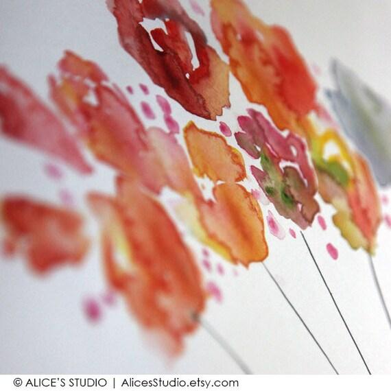 Hand-Painted Guest Book, Original Art Guestbook, Custom Wedding Guestbook Flowers in Milk Bottle, Thumbprint Guestbook, FreeGiftwithPurchase