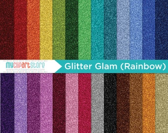 Digital Texture -  Glitter Glam Rainbow / Fine Glitter Paper, glitter texture, glitter paper, gold glam, gold glitter, sparkle papers