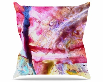 Throw Pillows, Pink and Blue Throw Pillows, Decorative Throw Pillows, Magenta Throw Pillows, Home Decor, Universe Series #3, Art by Malia